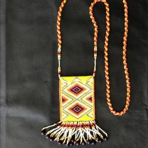 Bright colorful Beaded bad/pouch